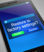 Restore to factory settings. — Stock Photo