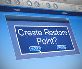 Restore Point concept. — Stock Photo