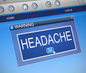 Headache concept. — Stock Photo