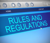 Rules and regulations concept. — Stock Photo