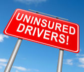 Uninsured drivers concept. — Stock Photo