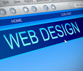 Web design concept. — Stock Photo