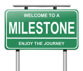 Milestone concept. — Stock Photo