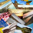 Collage of Eastern Kazakhstan — Stock Photo