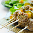 Meatballs kebab — Stock Photo
