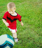 Little soccer player — Stock Photo