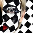 Closeup of model with chess board — Stock Photo #23474200