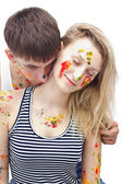 Young woman and man — Stock Photo