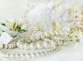 Wedding background with Pearl — Stock Photo