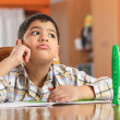 Schoolboy Having Problems With His Homework — Stock Photo