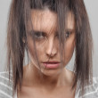 Female portrait with disheveled hair — Stock Photo #39652739