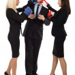 Business boxing — Stock Photo