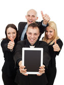 Business People Giving a Thumbs Up — Stock Photo