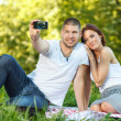 Stock Photo: Couple taking self portrait