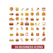Business presentation icons set, vector — Stock Vector