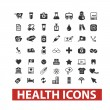 Health icons set, vector — Vector de stock #23966265
