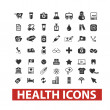 Health icons set, vector — Stock Vector