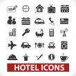 Hotel icons set, vector — Stock Vector