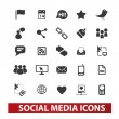 Social media icons set , vector — Stock Vector