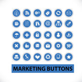 Marketing buttons & icons set, vector — Stock Vector