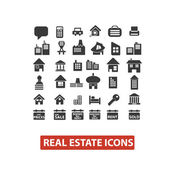 Real estate icons set, vector — Stock Vector