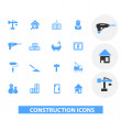 Construction icons set, vector — Stock Vector #37185089
