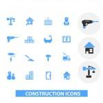 Construction icons set, vector — Stock Vector #37185089