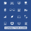 Connection icons — Stock Vector
