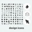 Internet web design icons set, vector — Stock Vector