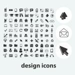 Internet web design icons set, vector — Stock Vector