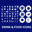 Drink, food icons set — Stock Vector