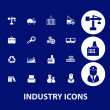Stock Vector: Industry business icons