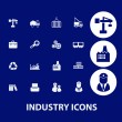 Industry business icons — Stock Vector