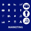 Marketing, management icons — Vettoriale Stock