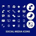 Social media, internet blog icons set, vector — Stock Vector