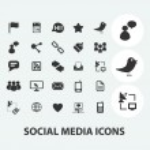 Social media, internet blog icons set, vector — Stock Vector #37185793