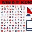 Web & it icons, signs, vector illustrations — Stock Vector