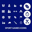 Sport games icons set, vector — Stock Vector