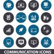Communication icons set, vector — Stock Vector