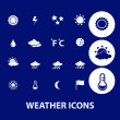 Weather icons set, vector — Stock Vector