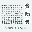 Classic black web design icons set, vector — Stock Vector #37185923