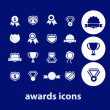 Awards, victory, winner icons — Stock Vector