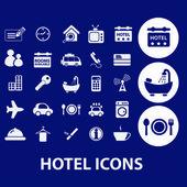 酒店的图标集 — 图库矢量图片