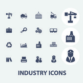 Industry icons set, vector — Vector de stock