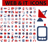 Web & it icons, signs, vector illustrations — Vetor de Stock