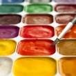Stock Photo: Set of watercolor paints