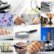 Stock Photo: Composite of nine images of office themes