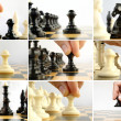 Composite image of playing chess — Stock Photo