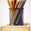 Pencils in basket — Stock Photo #28559695