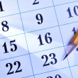 Pencil on a calendar — Stock Photo